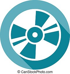 CD or DVD icon flat icon