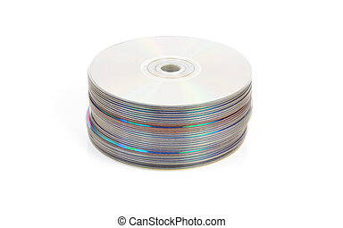 CD or DVD stack - Pile of CDs or DVDs or Blu Ray discs