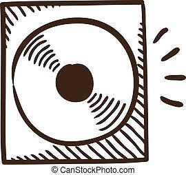 CD or DVD symbol.
