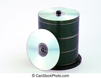 a stack of blank cds