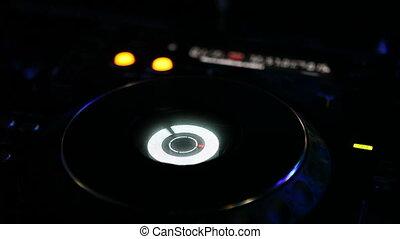CD player on night disco