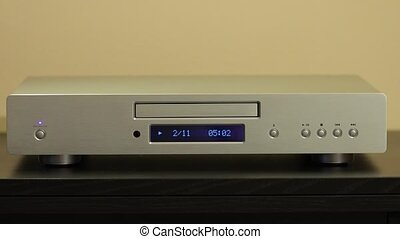 Cd player playing a disc