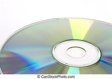 cd-r, aislado, cd, plano de fondo, disco, cd-rw, blanco