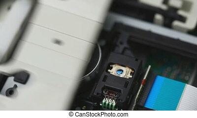 CD reader inside
