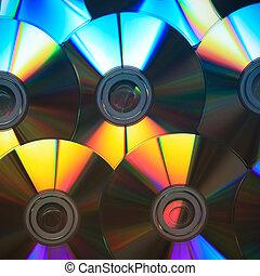 cd rom disks rainbow colors
