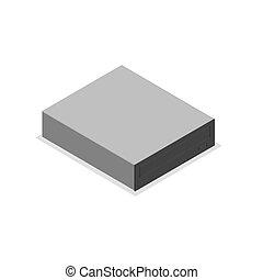 CD-ROM drive in 3D isometric, vector illustration. - CD-ROM...