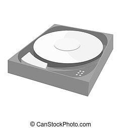 CD rom icon, black monochrome style - CD rom icon in black...