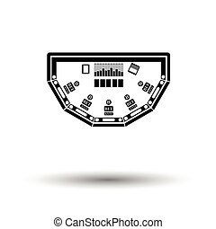 CD-ROM icon. White background with shadow design. Vector...