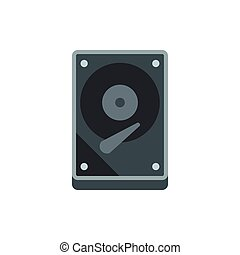 CD rom icon, flat style - CD rom icon in flat style isolated...