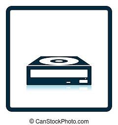 CD-ROM icon. Shadow reflection design. Vector illustration.