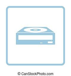 CD-ROM icon. Blue frame design. Vector illustration.