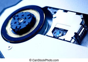 Cd-rom inside macro close up