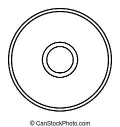 CD - Simple thin line cd icon