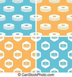 CD stack pattern set, colored