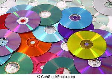 cd, technologie, hintergrund, dvd
