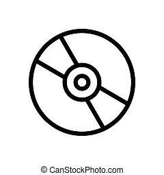 CD thin line icon