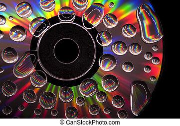 cd, waterdrops