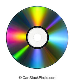 CD with colorful reflections - CD or DVD with lots of vivid...