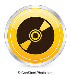 CD yellow circle icon
