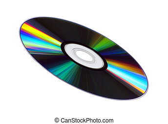 CD/DVD Disk - Colourful CD/DVD disk isolated on white.