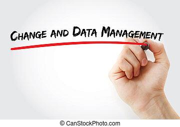 cdm, -, ændring, og, ledelse data, initialord