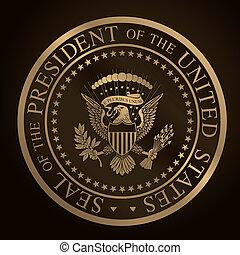 cdr, nosotros, dorado, presidencial, seal.