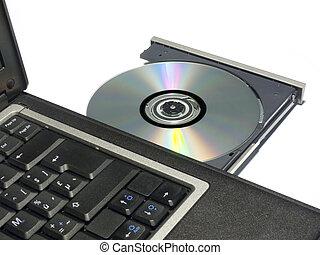 cdrom, laptop, tablett