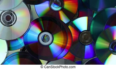 CDs thrown in pile