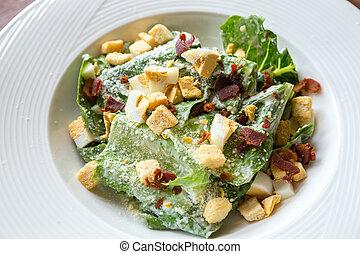 Ceasar Salad with bacon bit