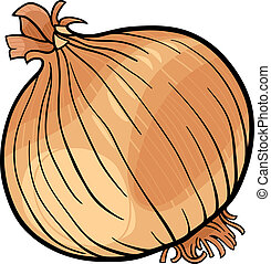 cebola, vegetal, caricatura, ilustração