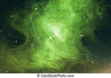 ceci, éléments, nebula., meublé, image, cosmique, paysage., nasa