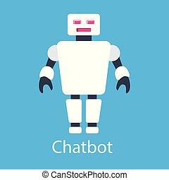 ceci, chatbot, vecteur, illustration., illustration
