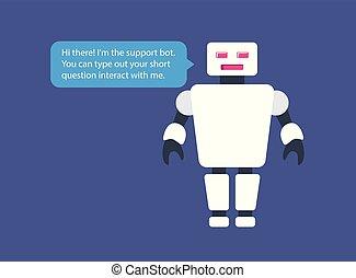 ceci, chatbot, vecteur, mockup., illustration
