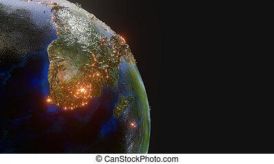 ceci, meublé, -, image, la terre, planète, éléments, nasa