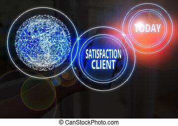 ceci, photo, satisfaction, achat, éléments, client., texte, conceptuel, produits, image, avantages, clients, nasa., obtenir, signe, projection, meublé