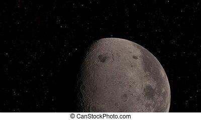 ceci, réaliste, image, nasa, lune, éléments, meublé, fond, ...
