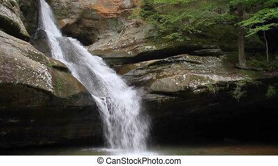 Cedar Falls in Hocking Hills Loop - Whitewater splashes down...