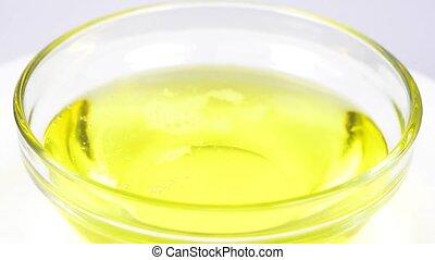 cedar nut oil on a turn table