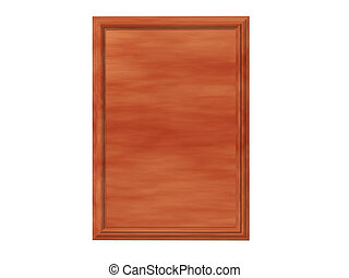 Cedar Plaque - Isolated cedar plaque