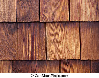 Cedar shingle detail - Detail of a nicely weathered cedar...