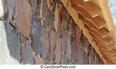 Cedar wooden shingles roof roofing roofworking carpenty...
