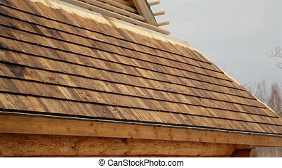 Cedar wooden shingles shake roof roofing roofworking
