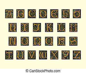 cedo, alfabeto, 16º século