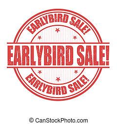 cedo, selo, pássaro, venda