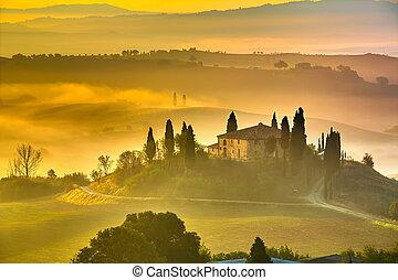 cedo, tuscany, manhã