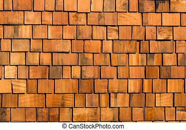 cedro, techado, madera, sacudida