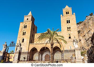 cefalu, cathédrale, normand