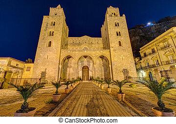 cefalu, cathédrale, sicile, normand