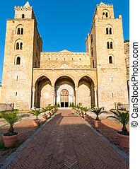 cefalu, cathédrale, sicile
