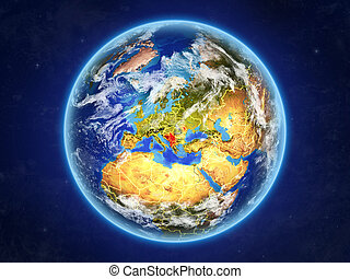 CEFTA countries on Earth from space